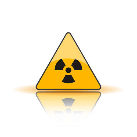 Radiation Hazard Sign. Symbol of radioactive threat alert.