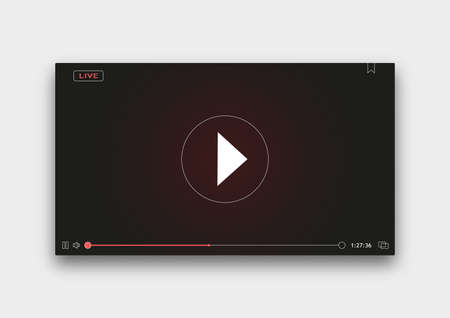 Video Player Window with Menu and Buttons Panel Stock fotó