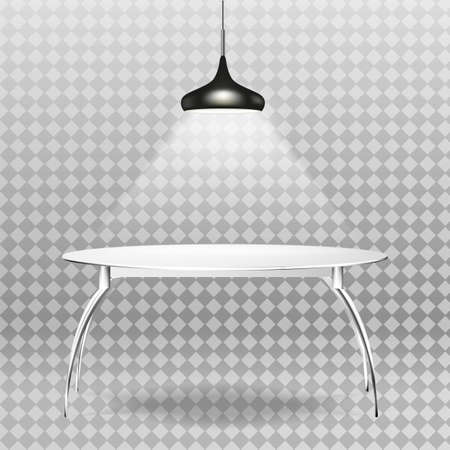 Table with a spotlight on a background. illustration.