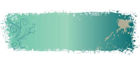 шероховатый цветные баннеры с завитками и помарки иллюстрации Иллюстрация