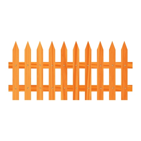 wooden fence illustration Stock Vector - 13264355