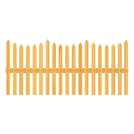 wooden fence illustration Stock Vector - 13264664