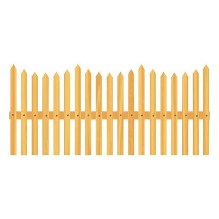 wooden fence illustration Stock Vector - 13264664