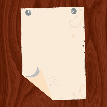 Blank paper on wood background for text illustration Stock Vector - 13265116