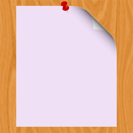 Blank paper on wood background for text illustration Stock Vector - 13264652
