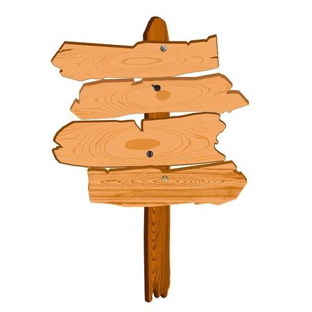 old wooden billboard illustration Stock Vector - 13264654