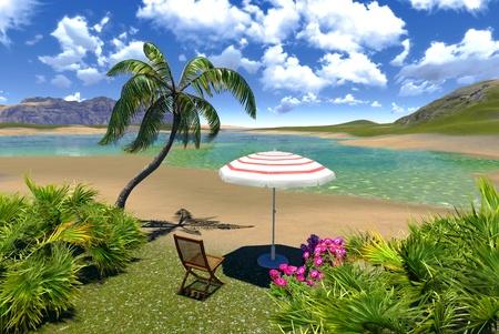 рая лагуну Фото со стока