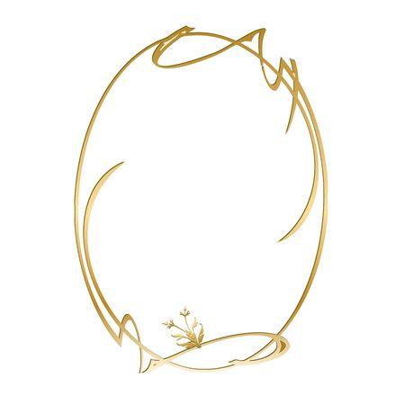gold vintage frame illustration Illustration
