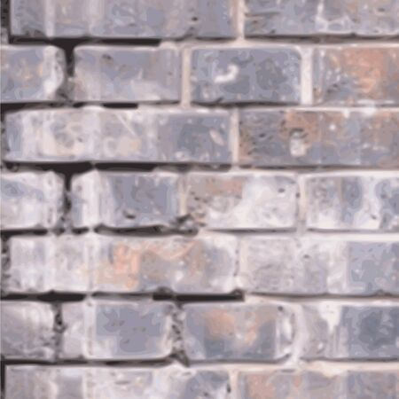 old grunge brick wall background - vector Stock Vector - 13285912