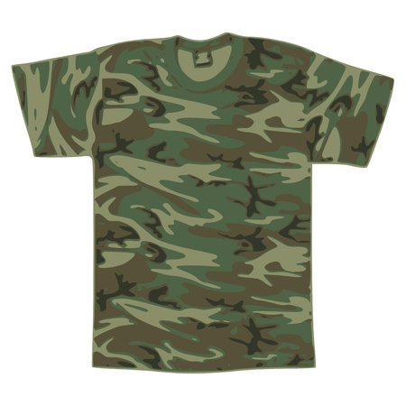 Mens Military Shirt - vector Vector