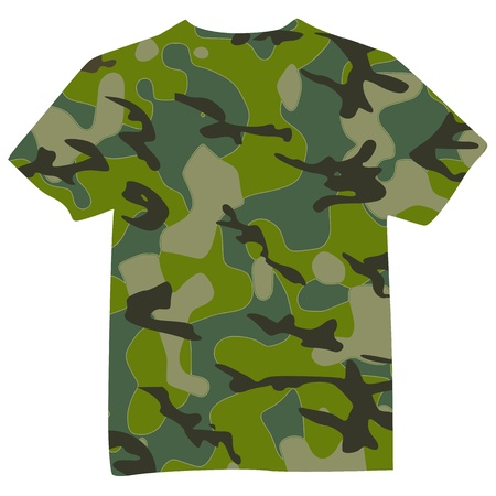 Hombres camiseta Militar - vector