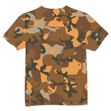Mens Military Shirt - vector Vector