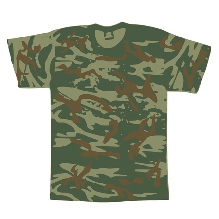 Men's Military Shirt - vector Stock Vector - 13285219