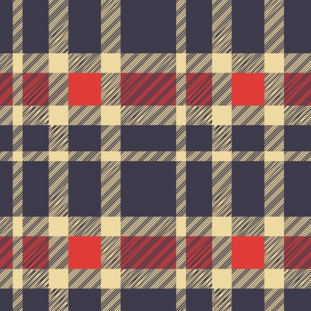 Tartan plaid fabric textile pattern - vector Vector