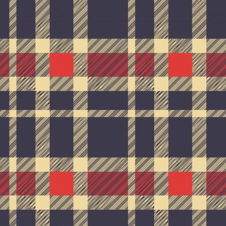 Tartán a cuadros patrón de tejido textil - vector