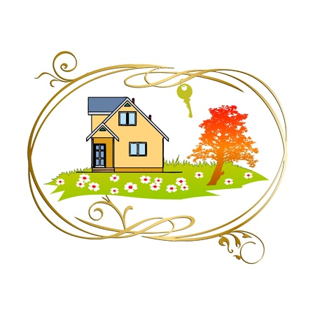 Home and key - vector
