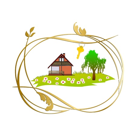 Home and key - vector Stock Vector - 13285516