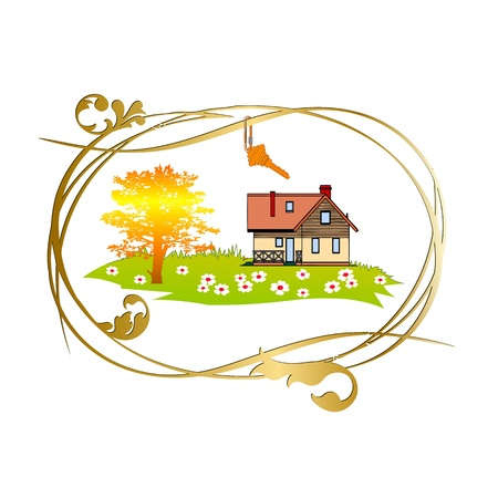 Home and key - vector Stock Vector - 13285755
