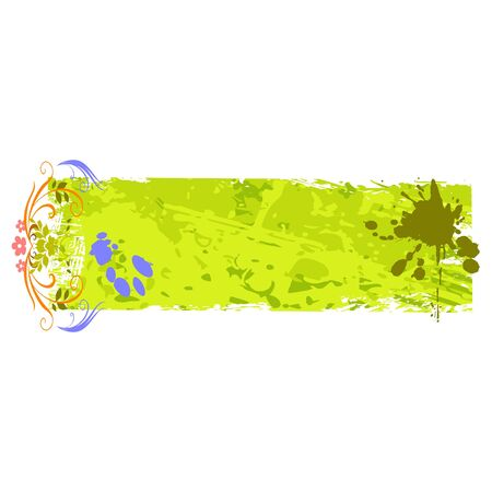 grungy colored banner with blots Illustration