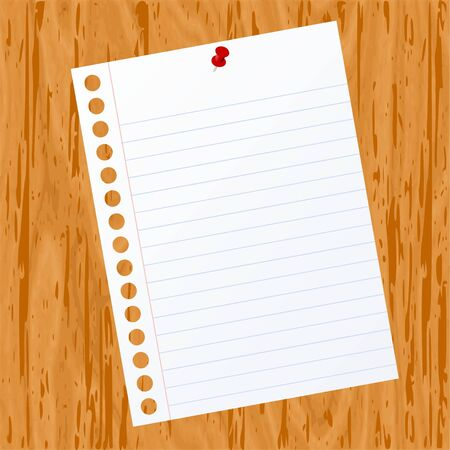 Blank paper on wood background for text