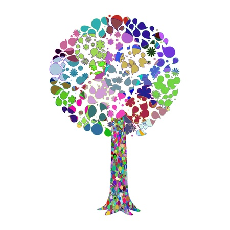 Abstract tree - vector Vector