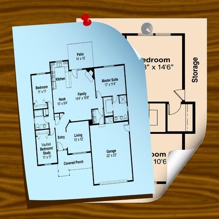 house plans - vector Stock Vector - 13285768