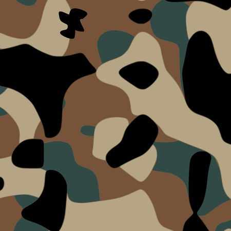 Camouflage pattern - vector Stock Vector - 13285212
