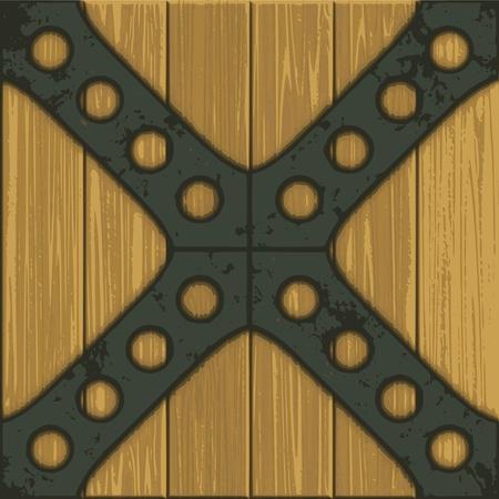 rusty grunge metal background - vector Stock Vector - 13285758