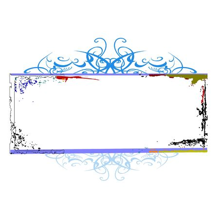 swirl floral border for your text - vector
