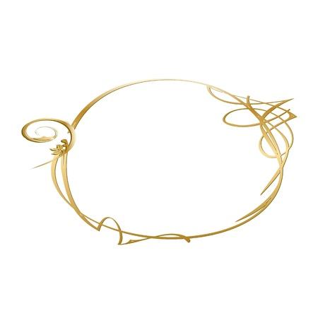 bilderrahmen gold: goldenen Vintage-Rahmen - Vektor