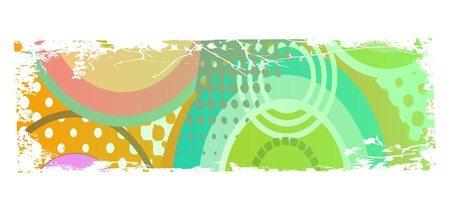 grungy colored banner with circles