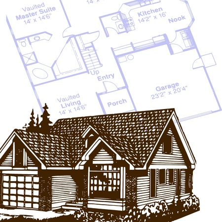 house and plan - vector
