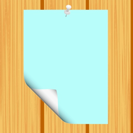 Blank paper on wood background - vector Stock Vector - 13363664