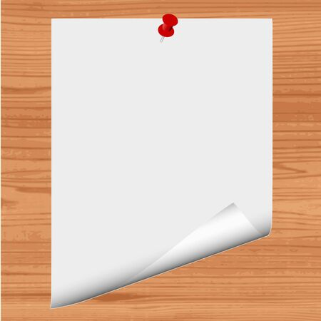 Blank paper on wood background - vector Stock Vector - 13363614