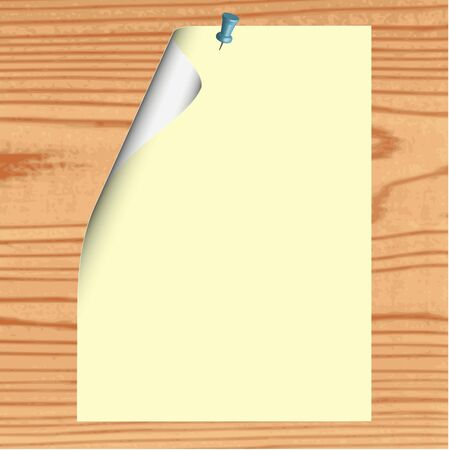 Blank paper on wood background - vector Stock Vector - 13363618
