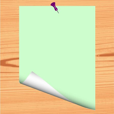 Blank paper on wood background - vector Stock Vector - 13363624