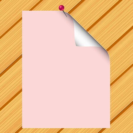 Blank paper on wood background - vector Stock Vector - 13363638