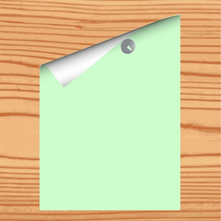 Blank paper on wood background - vector Stock Vector - 13363644