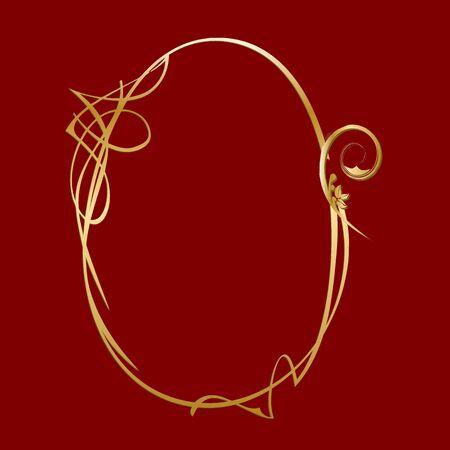 gold vintage frame - vector Illustration