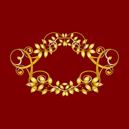 gold vintage floral decorations for design - vector Vector