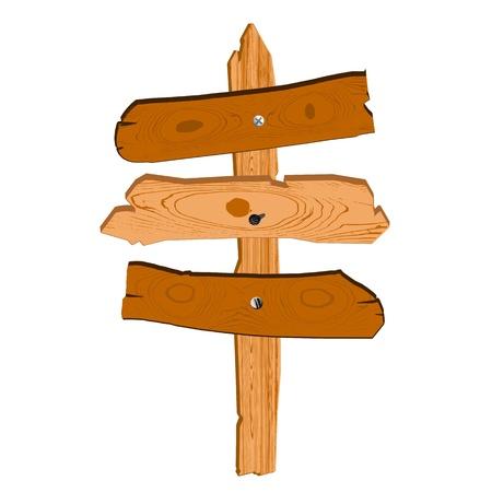 Старый деревянный знак - вектор