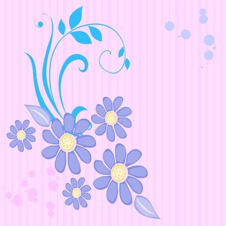 swirl floral design - vector Stock Vector - 13363729
