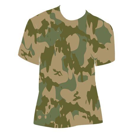 Военная рубашка - вектор