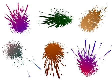 splashed: splashed splatter vector set