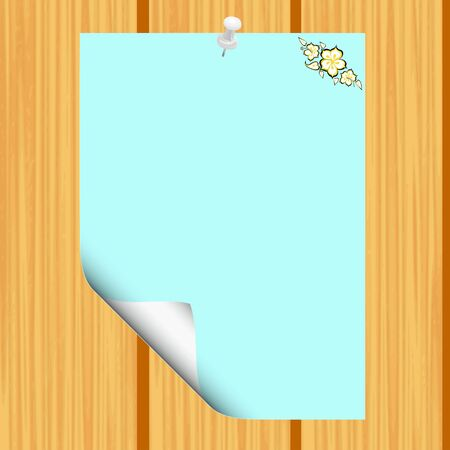 Blank paper on wood background Stock Vector - 13426498