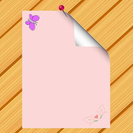 Blank paper on wood background Stock Vector - 13426509