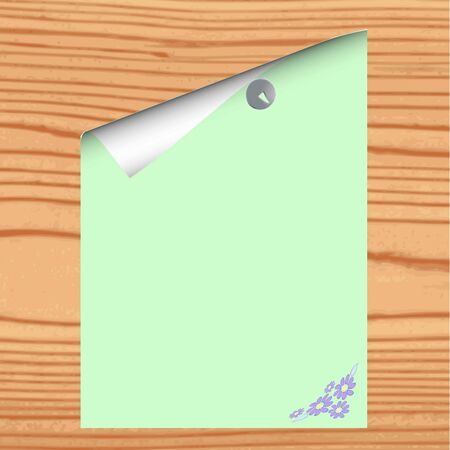 Blank paper on wood background Stock Vector - 13426527