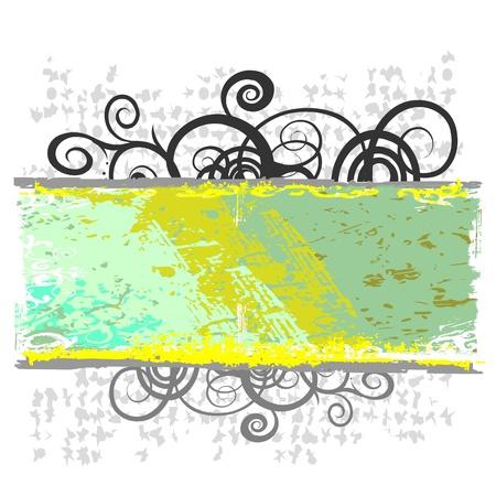 вихревой цветочные границы для текста - вектор
