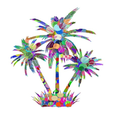 Abstract palms - vector Vector