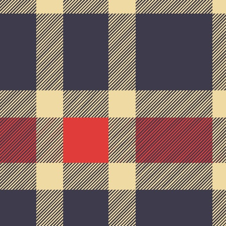 chequered backdrop: Tartan plaid fabric textile pattern - vector Illustration